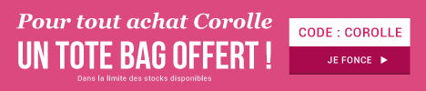 Un tote bag fleuri Corolle offert ! > voir conditions