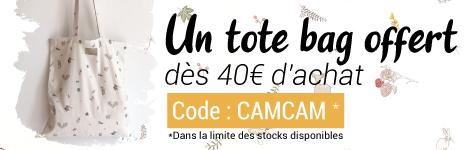 Un tote bag offert dès 40€ d'achat Cam Cam Copenhagen ! > voir conditions