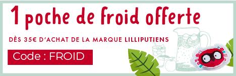 1 poche de froid Marius offert dès 45€ d'achat sur le rayon sortie et bagagerie de la marque Lilliputiens  > voir conditions