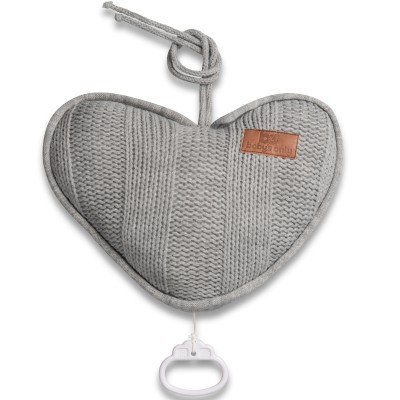 Coussin musical coeur Robust Mix gris (26 cm) Baby's Only