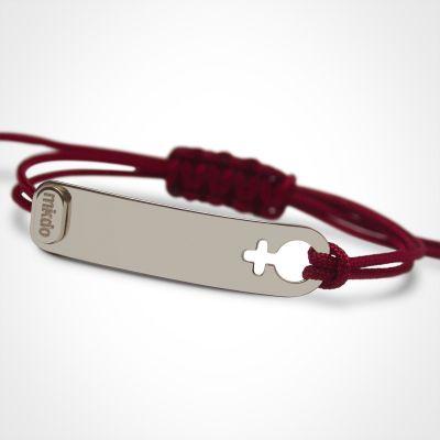 Bracelet I am Fille (or blanc 750°)  par Mikado