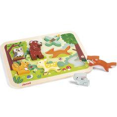 Puzzle à encastrement Chunky Forêt (7 pièces)