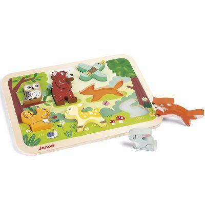 Puzzle à encastrement Chunky Forêt (7 pièces) Janod