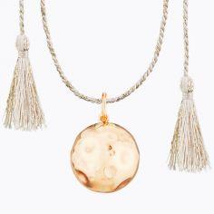 Bola sur cordon rose doré Moon Lune (plaqué or rose)