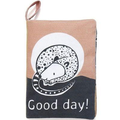 Livre bébé en tissu Good day! Petit Monkey