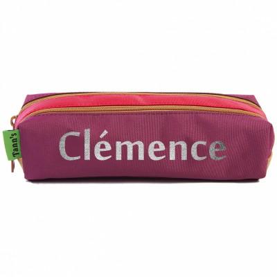 Trousse Tann's double personnalisable rouge et violet Les Griottes