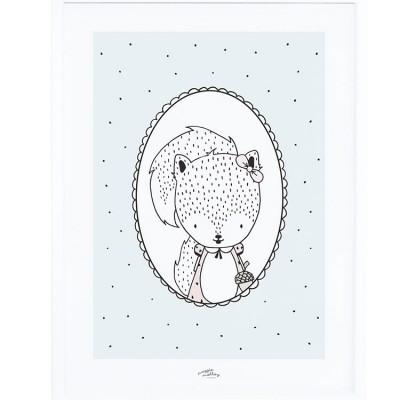 Affiche encadrée Susy l'écureuil (30 x 40 cm)  par Lilipinso