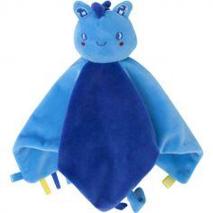 Doudou plat Enjoy & Dream dragon bleu