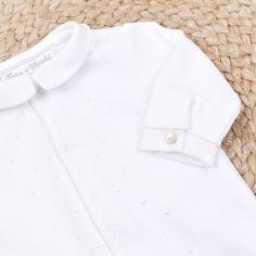 Pyjama léger blanc Linge d'antan (1 mois)