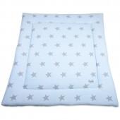 Tapis de parc Star bleu ciel et gris (85 x 100 cm) - Baby's Only