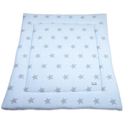 tapis de parc star bleu ciel et gris 85 x 100 cm par baby 39 s only. Black Bedroom Furniture Sets. Home Design Ideas