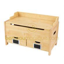 Banc coffre à jouets avec deux petits tiroirs  par KidKraft