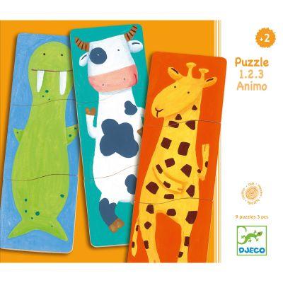 Puzzle Drôles d'animaux (27 pièces) Djeco