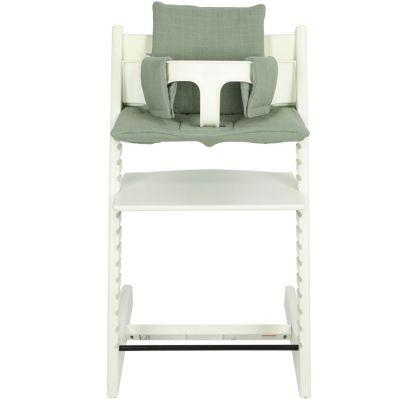 Coussin de chaise haute Tripp Trapp de Stokke Bliss vert olive Les Rêves d'Anaïs