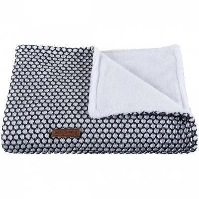 petite couverture polaire bébé Couverture bébé Sun Teddy doublée polaire blanche et noire petite couverture polaire bébé