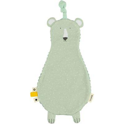 Doudou plat velours ours Mr. Polar Bear  par Trixie