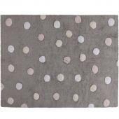 Tapis lavable gris à pois de 3 couleurs (120 x 160 cm) - Lorena Canals