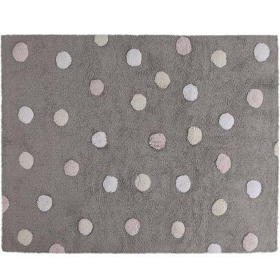 Tapis lavable gris à pois de 3 couleurs (120 x 160 cm)  par Lorena Canals