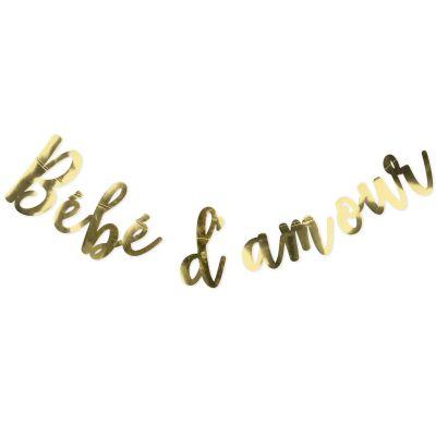 Guirlande dorée Bébé d'amour (110 cm)