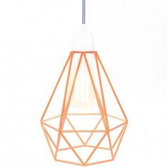 Lampe baladeuse Diamond 1 orange et gris