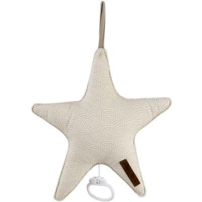 Doudou musical à suspendre étoile Beige waves (27 cm) Little Dutch