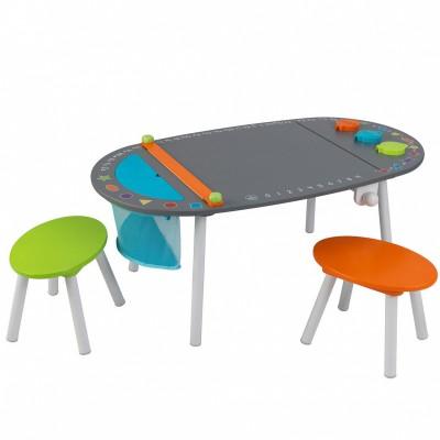 Table de dessin avec tabourets (107 x 59 cm)  par KidKraft