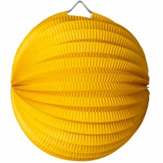 Lampion boule jaune moutarde
