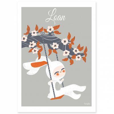 Affiche A3 Les adorables costumés Le lapin (personnalisable)  par Kanzilue