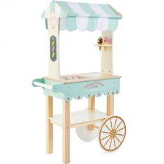 Chariot à glaces en bois Honeybake