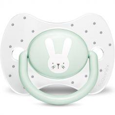 Sucette anatomique réversible Hygge Baby lapin vert (18 mois et +)