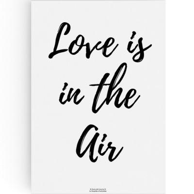 Affiche A3 Love is in the air  par La Poupette à paillettes
