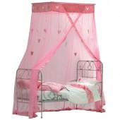 Ciel de lit Coeurs suspendus rose - Taftan