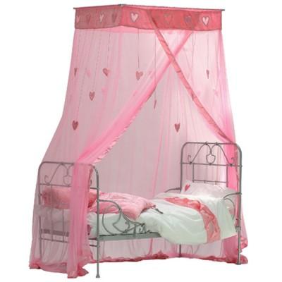 ciel de lit coeurs suspendus rose taftan berceau magique. Black Bedroom Furniture Sets. Home Design Ideas