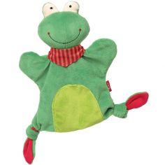 Doudou marionnette grenouille (23 cm)