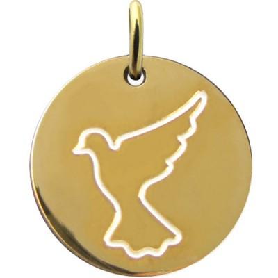 Médaille Espérance colombe en vol 16 mm (or jaune 750°) Martineau