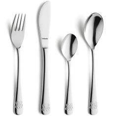 Set 4 couverts Ourson (inox)