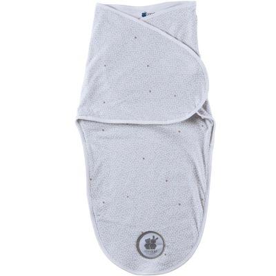 Couverture d'emmaillotage Candizen pois grise