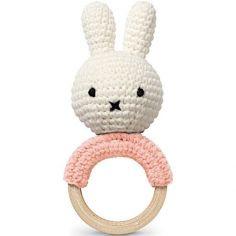 Hochet anneau de dentition Miffy rose pastel