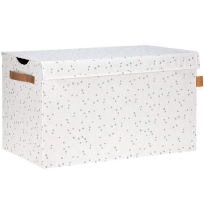 coffre jouets en tissu allover points l ssig. Black Bedroom Furniture Sets. Home Design Ideas