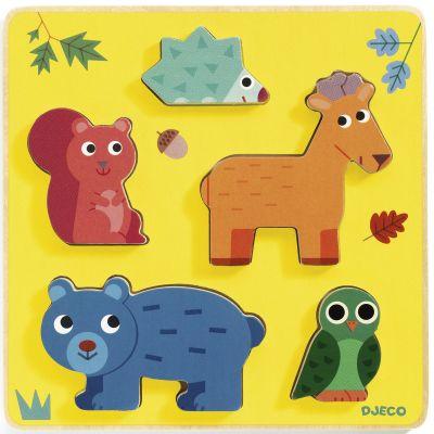 Puzzle à encastrement Frimours (5 pièces)  par Djeco