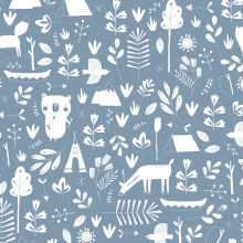 Papier peint à motifs Adventure blue (10 m)  par Little Dutch