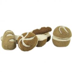 Lot de 4 petits pains en feutrine