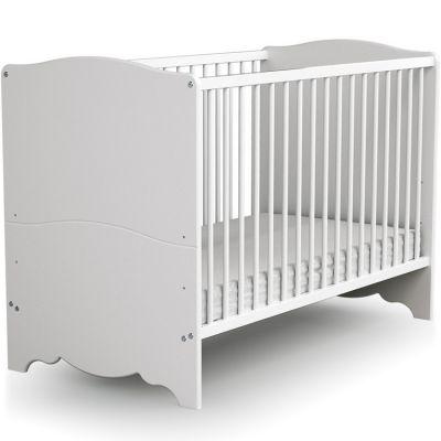 Lit à barreaux en bois de hêtre   Marelle blanc (60 x 120 cm)  par AT4