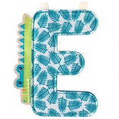 Lettre en tissu à suspendre E Anatole (9,5 cm)