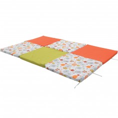 tapis de jeu patchwork vert jade et gris 80 x 100 cm. Black Bedroom Furniture Sets. Home Design Ideas