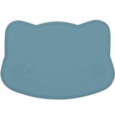 Boîte à goûter 3 en 1 chat bleu