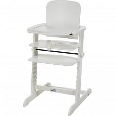 Chaise haute évolutive Family bois blanc