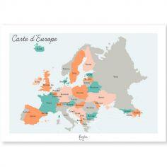 Affiche A3 Carte de l'Europe