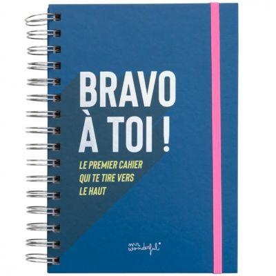 Carnet de pensées positives Bravo à toi (160 pages)