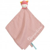 Doudou plat lange Mademoiselle et Ribambelle personnalisable (47 x 47 cm) - Moulin Roty